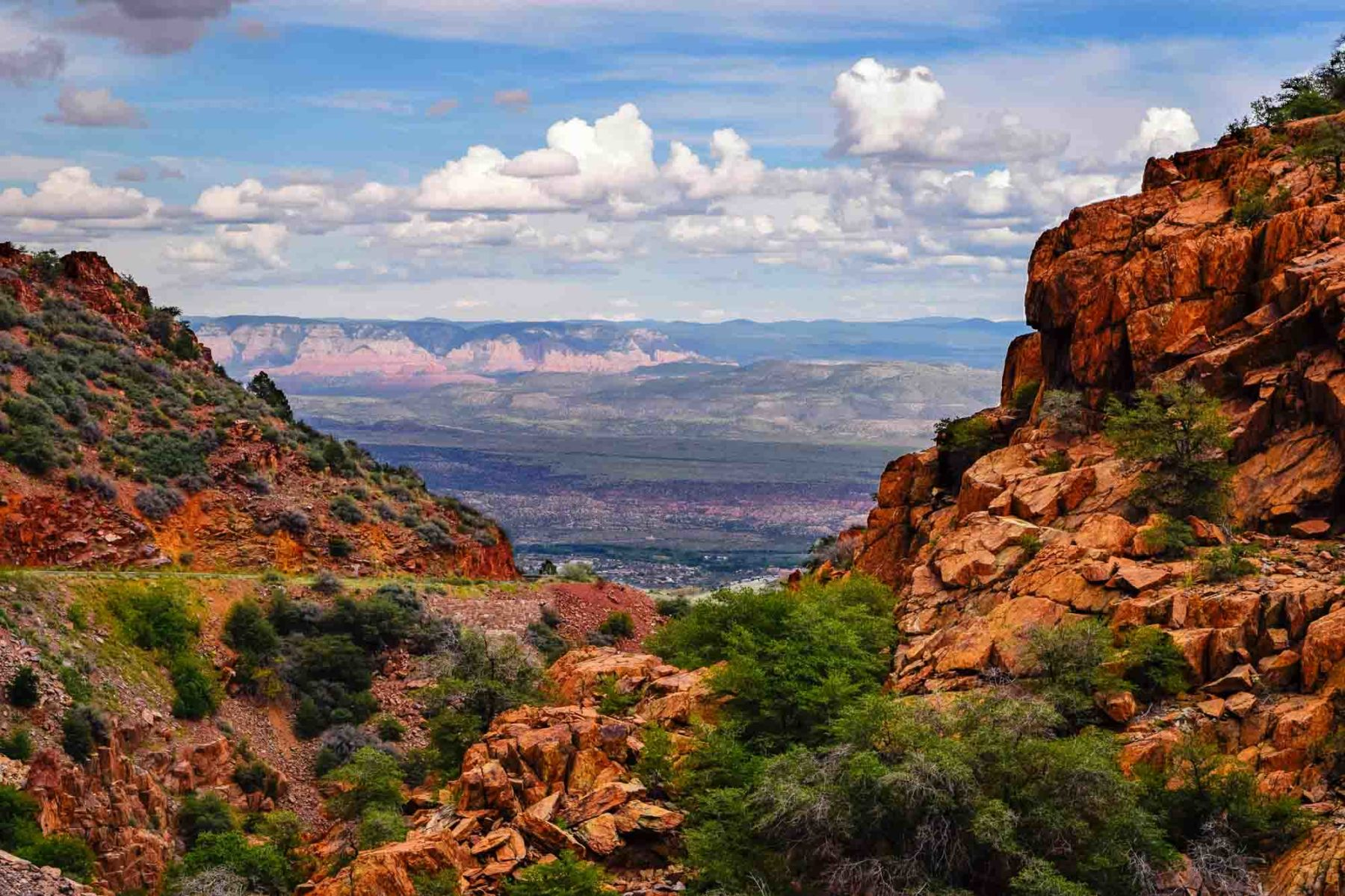 Arizona landscape featuring canyons and a rocky terrain