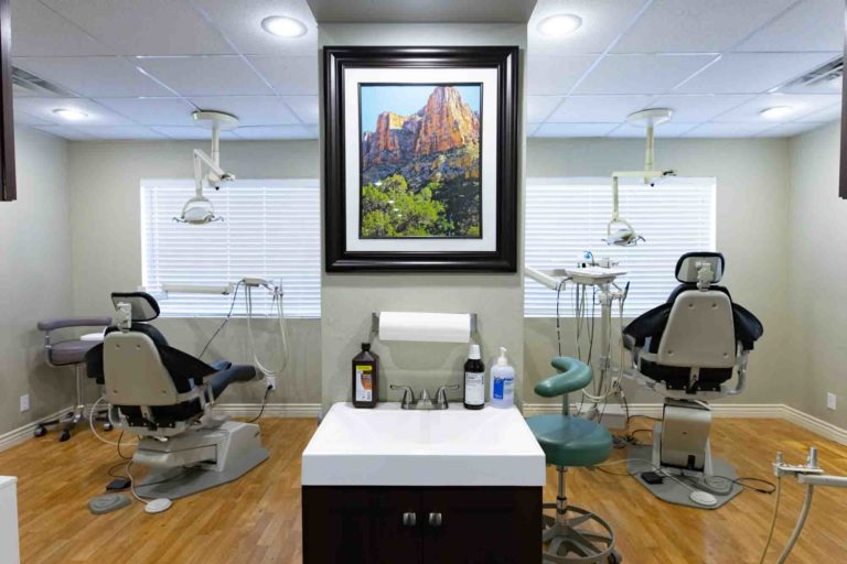 Dental exam rooms at Horizon Dental Group